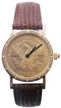 Corum 18K Yellow Gold Quartz 24.5mm Womens Watch