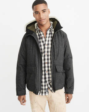 Abercrombie & Fitch Down-Filled Hooded Deck Jacket