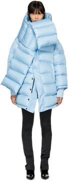 Balenciaga Blue Outerspace Puffer Jacket