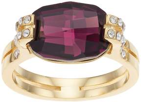 Brilliance+ Brilliance 14k Gold Plated Ring with Swarovski Crystals