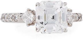 FANTASIA Princess-Cut CZ Crystal Ring