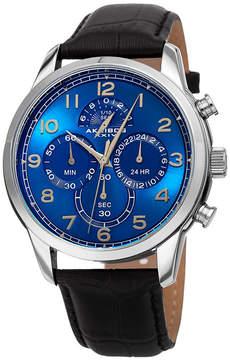 Akribos XXIV Mens Black Bracelet Watch-A-1004ssbk