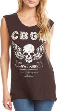 Chaser CBGB Studded Graphic Tank