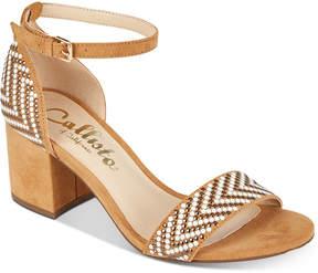 Callisto Nessa Two-Piece Block Heel Dress Sandals, Created for Macy's Women's Shoes