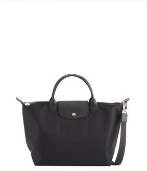 Longchamp Le Pliage Neo Medium Handbag with Strap - BLACK - STYLE