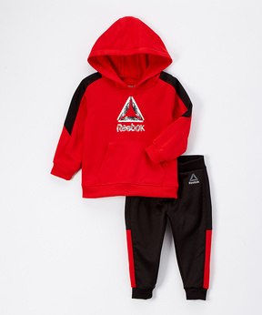 Reebok Red Rush Grind to Shine Hoodie & Joggers - Toddler & Boys