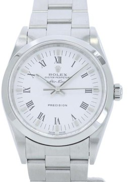 Rolex Air King 14000M Stainless Steel White Dial Automatic 34mm Men