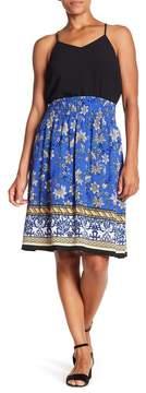 Bobeau Smocked Knee Length Skirt