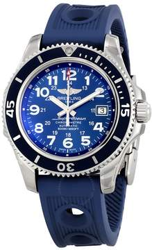 Breitling Superocean II 42 Automatic Blue Dial Blue Rubber Men's Watch