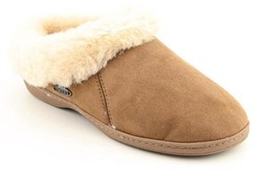 Acorn Ewe Collar Women Round Toe Suede Brown Scuffs Slippers Shoes.