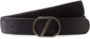 Z Zegna Men's Braided Five Notch Belt