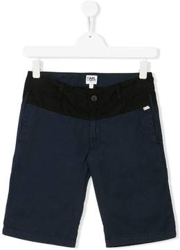 Karl Lagerfeld TEEN colour block shorts