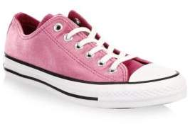 Converse Velvet Low-Top Sneakers