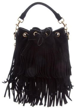 Saint Laurent 2015 Small Fringed Emmanuelle Bucket Bag - BLACK - STYLE