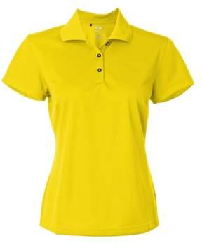 adidas Ladies ClimaLite Basic Polo Shirt. A131 Large Vivid Yellow