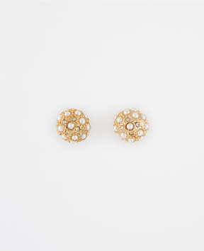 Ann Taylor Modern Pearlized Cabochon Stud Earrings