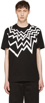 Neil Barrett Black Serrated Fairisle T-Shirt