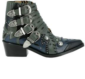 Toga Pulla Leather Ankle Boots
