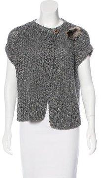 Brunello Cucinelli Short Sleeve Knit Cardigan