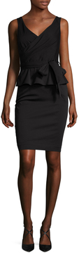Ava & Aiden Women's Ruffle Peplum Sheath Dress