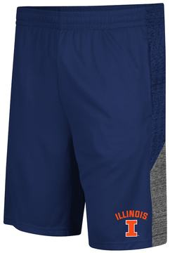Colosseum Men's Campus Heritage Illinois Fighting Illini Friction Shorts