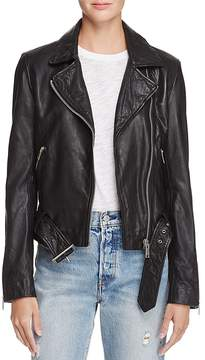 Aqua Leather Moto Jacket - 100% Exclusive