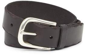 John Varvatos Collection Leather Horseshoe Buckle Belt