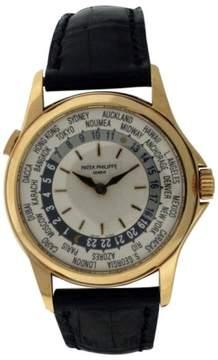 Patek Philippe World Time 5110J 18K Yellow Gold Watch