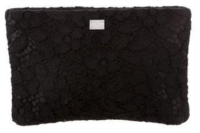 Dolce & Gabbana Lace Zip Pouch w/ Tags - BLACK - STYLE