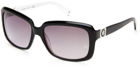 Montblanc MB466S Black & White Square Sunglasses