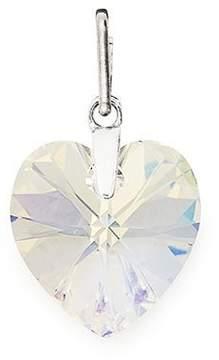 Alex and Ani Crystal Aurora Borealis Heart Necklace Charm with Swarovski Crystals