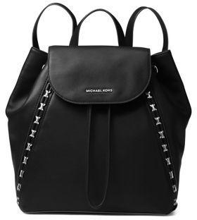 MICHAEL Michael Kors Sadie Leather Backpack - BLACK - STYLE
