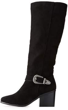 Charlotte Russe Bamboo Western Buckled Over-The-Knee Boots