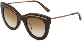 Bottega Veneta Plastic Cat-Eye Sunglasses