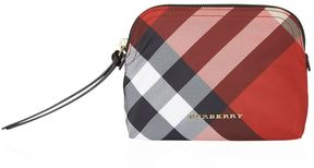 Burberry Medium Zip-Top Check Pouch - RED - STYLE