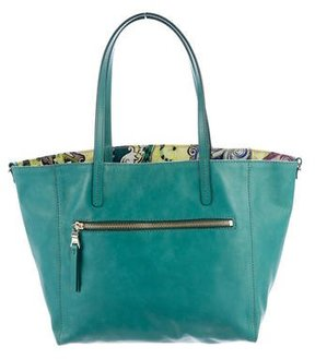 Etro Leather Shopper Tote