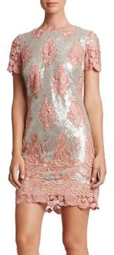 Dress the Population Women's Joy Sequin Lace Minidress