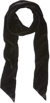 Joe Fresh Women's Velvet Skinny Scarf, JF Black (Size O/S)