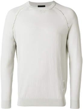 John Richmond distressed detail sweater