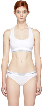 Calvin Klein Underwear White Modern Cotton Bralette