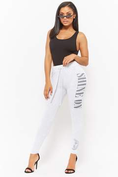Forever 21 Shine On Knit Joggers