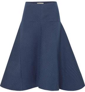 Fendi Pinstriped Cotton-blend Twill Skirt - Navy