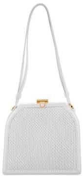 Judith Leiber Pleated Leather Mini Handle Bag