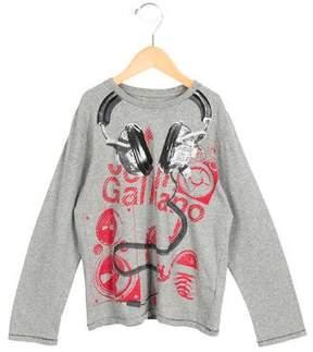 John Galliano Boys' Graphic Print Long Sleeve Shirt