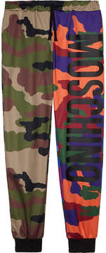 Moschino Multicoloured camo print tracksuit bottoms 4-14 years