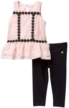 Kate Spade floral mesh tunic & leggings set (Baby Girls)
