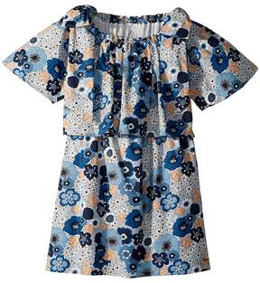 Chloé Kids Mini Me Floral Print Knots Details Girl's Dress