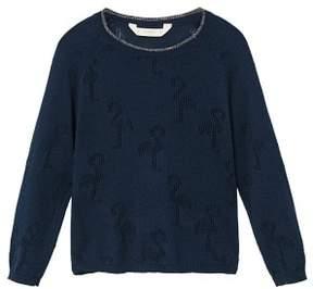 MANGO Flamingo embroidery sweater
