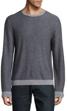 Saks Fifth Avenue BLACK Striped Wool Sweater