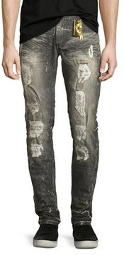 Robin's Jeans Distressed Skinny Jeans, Gray
